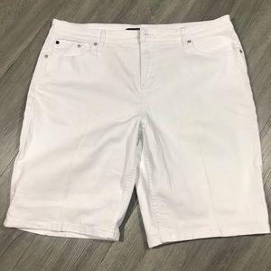 Calvin Klein White Denim Bermuda Shorts size 16